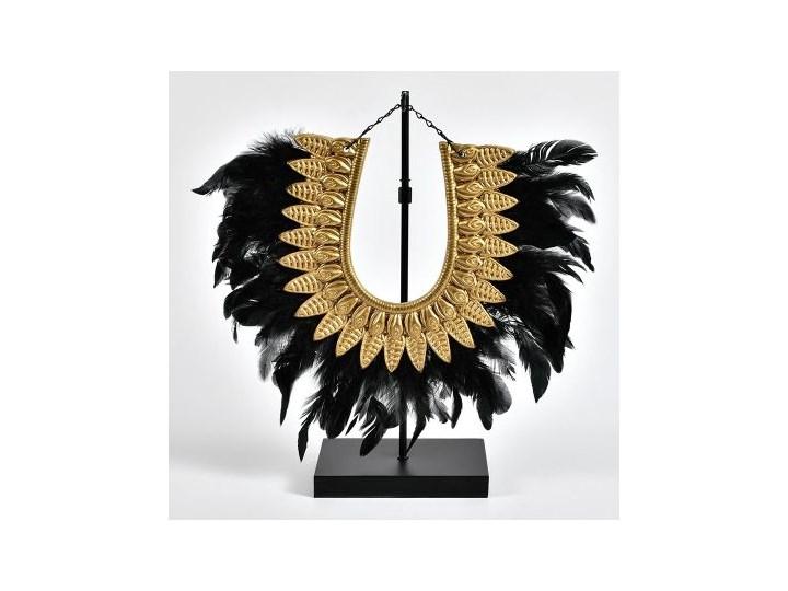 Etno Dekoracja pióra Ceramika Kolor Złoty Metal Kategoria Figury i rzeźby