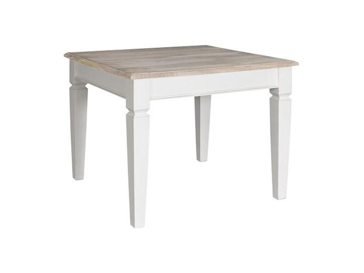 Bristol White Stół kwadratowy Drewno Płyta MDF Rozkładanie
