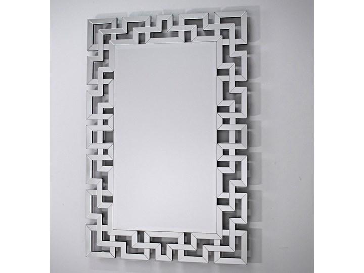 Lustro rama z luster wzór  Grecco Mirror Glamur Prostokątne Lustro bez ramy Kategoria Lustra Ścienne Pomieszczenie Przedpokój