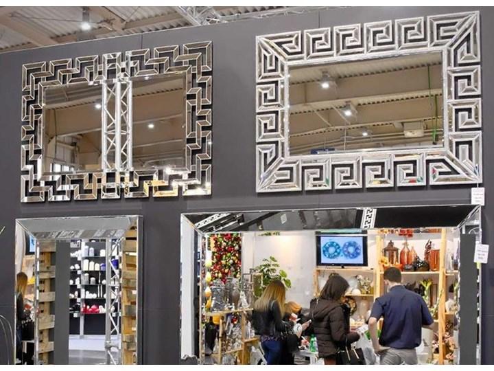 Lustro rama z luster wzór  Grecco Mirror Glamur Pomieszczenie Przedpokój Ścienne Prostokątne Lustro bez ramy Kolor Srebrny