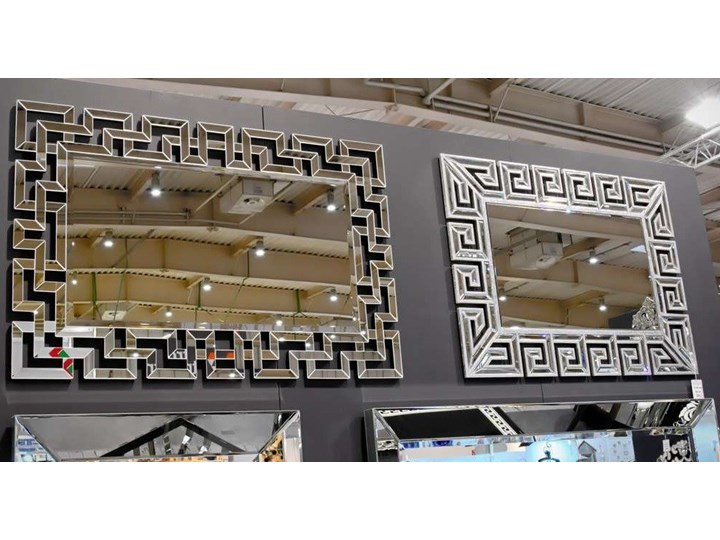 Lustro rama z luster wzór  Grecco Mirror Glamur Prostokątne Ścienne Lustro bez ramy Kategoria Lustra
