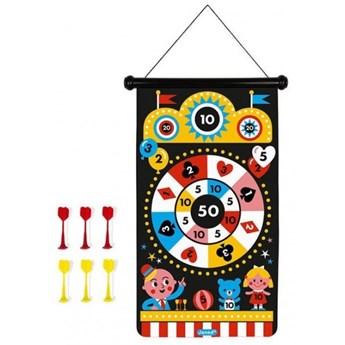 Nauka przez zabawę zabawka edukacyjna zabawki magnetyczne Janod Magnetyczna gra w rzutki Wesołe miasteczko