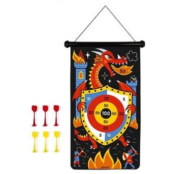 Nauka przez zabawę zabawka edukacyjna zabawki magnetyczne Janod Magnetyczna gra w rzutki Smoki
