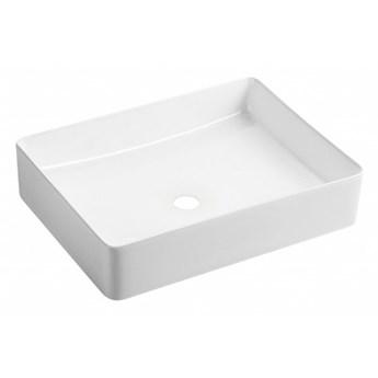 Pasadena umywalka nablatowa prostokątna 47x36 cm biały połysk PASADENA470BP