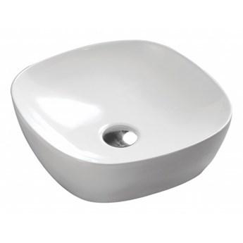 Portland umywalka nablatowa kwadratowa 37 cm biały połysk PORTLAND370BP
