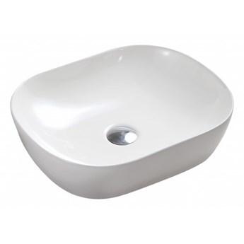 Portland umywalka nablatowa owalna 47x39 cm biały połysk PORTLAND475BP