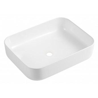 Corona umywalka nablatowa prostokątna 50x39 cm biały połysk CORONA500BP
