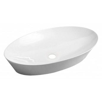 Laredo umywalka nablatowa owalna 61x37 cm biały połysk LAREDO605BP