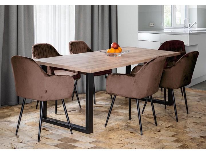 Duży stół do jadalni - duży stół rozkładany w stylu skandynawskim 160x260x90 - FIORD - Jesion Metal Sosna Szerokość 260 cm Pomieszczenie Stoły do jadalni Wysokość 75 cm Długość 160 cm  Płyta MDF Tworzywo sztuczne Drewno Kolor Beżowy
