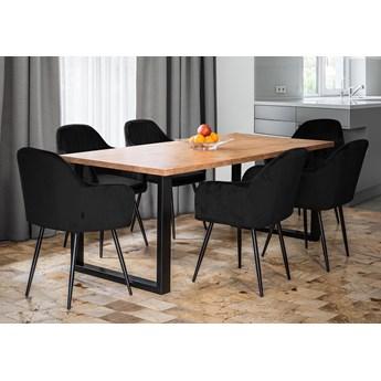 Rozkładany stół do jadalni 140x240x90 - FIORD - Dąb