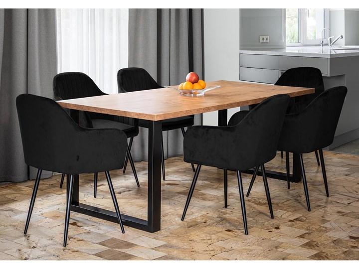 Rozkładany stół do jadalni 140x240x90 - FIORD - Dąb Długość 140 cm  Długość 240 cm Metal Szerokość 140 cm Szerokość 240 cm Wysokość 90 cm Drewno Kategoria Stoły kuchenne