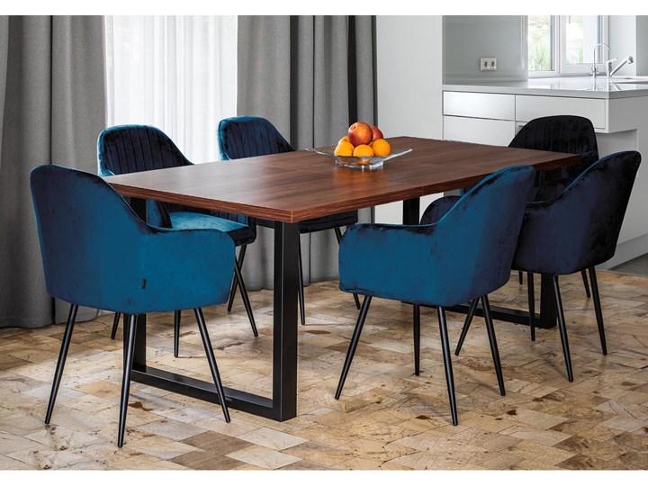 Stół industrialny rozkładany - 140x240x90 - FIORD - Ciemny orzech