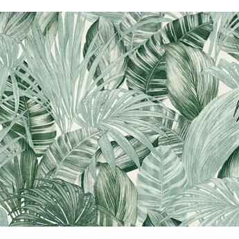 Tapeta Jasno Zielone Palmy Na Białym Tle As-Creation As368201