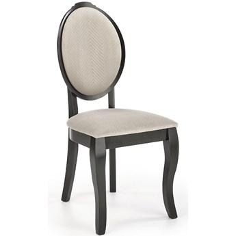 Czarne krzesło drewniane w stylu retro Velo