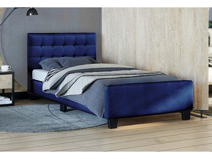 ŁÓŻKO TAPICEROWANE 90X200 SF942 WELUR NIEBIESKI Kategoria Łóżka do sypialni