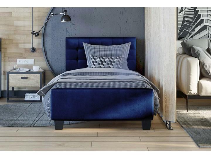 ŁÓŻKO TAPICEROWANE 90X200 SF942 WELUR NIEBIESKI Kategoria Łóżka do sypialni Kolor Granatowy