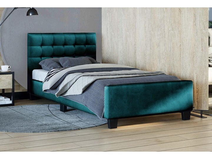 ŁÓŻKO TAPICEROWANE 90X200 - RADO (SF942) - WELUR ZIELONY Kategoria Łóżka do sypialni