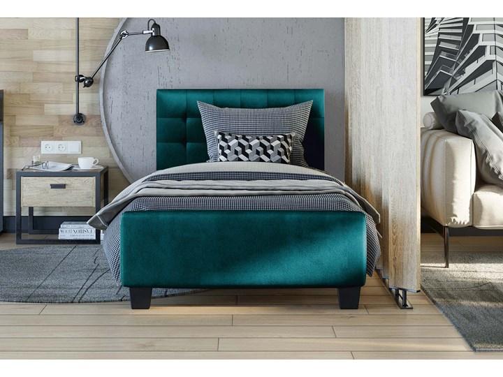 ŁÓŻKO TAPICEROWANE 90X200 - RADO (SF942) - WELUR ZIELONY Kategoria Łóżka do sypialni Pojemnik na pościel Bez pojemnika