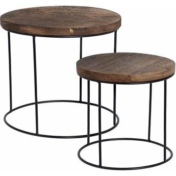 Loftowy zestaw stolików kawowych - Remos