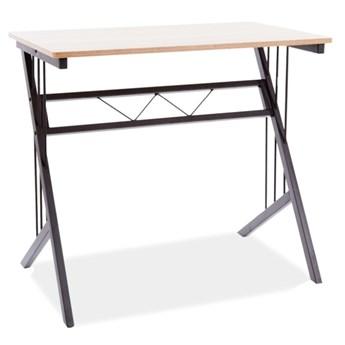 Loftowe biurko z drewnopodobnym blatem B-120