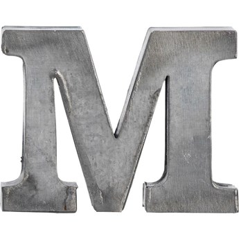 Dekoracja wisząca metalowa M