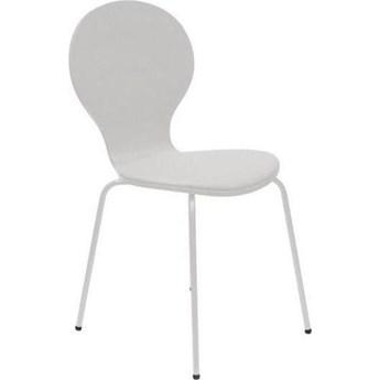 Krzesło Flower 46x87 cm białe