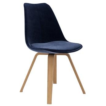 Krzesło Gina Velour Ella 49x83 cm granatowe / drewniane