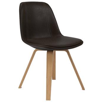Krzesło Grace Ella 47x79 cm czekoladowe / drewniane ekoskóra