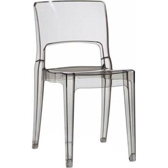 Krzesło Isy Antishock 45x82 cm transparentne szare