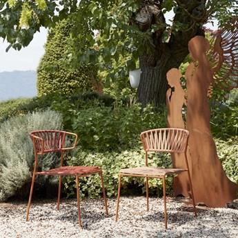 Krzesło ogrodowe Lisa Club 56x78 cm terakota