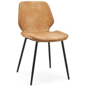 Krzesło Seashell 46x84 cm brązowe