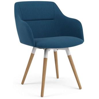 Krzesło Sofia Fido niebieskie nogi drewniano-białe