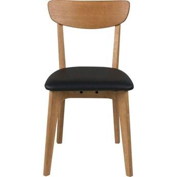 Krzesło Taxi 45x84 cm brązowo-czarne ciemne