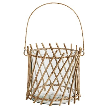Lampion Bamboo Cane ∅20x18 cm naturalny