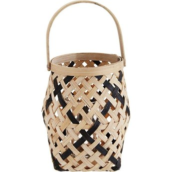 Lampion Decano Bamboo 15x17 cm brązowo-czarny