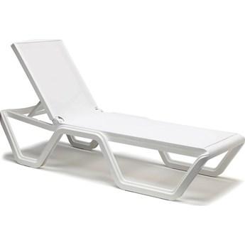 Leżak ogrodowy Vela Sun-Bed 69x194 cm biały