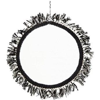 Lustro wiszące Singh Ø25 cm czarne