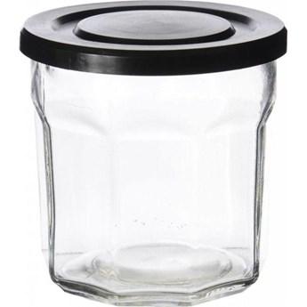Pojemnik na żywność 10x10 cm szklany czarny