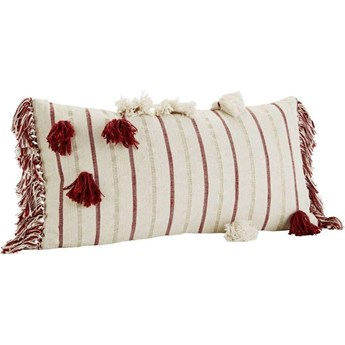 Poszewka na poduszkę Chenille 35x70 cm biało-czerwona