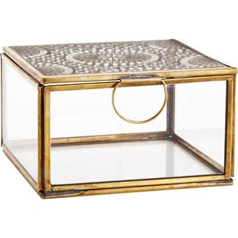 Pudełko szklane 12x12 cm z ornamentem