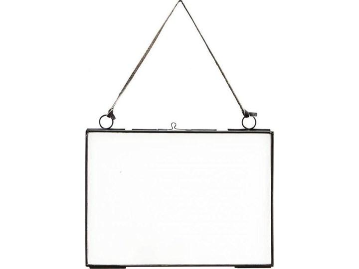 Ramka wisząca na zdjęcia 18x13 cm czarna Stojak na zdjęcia Skóra Kolor Czarny