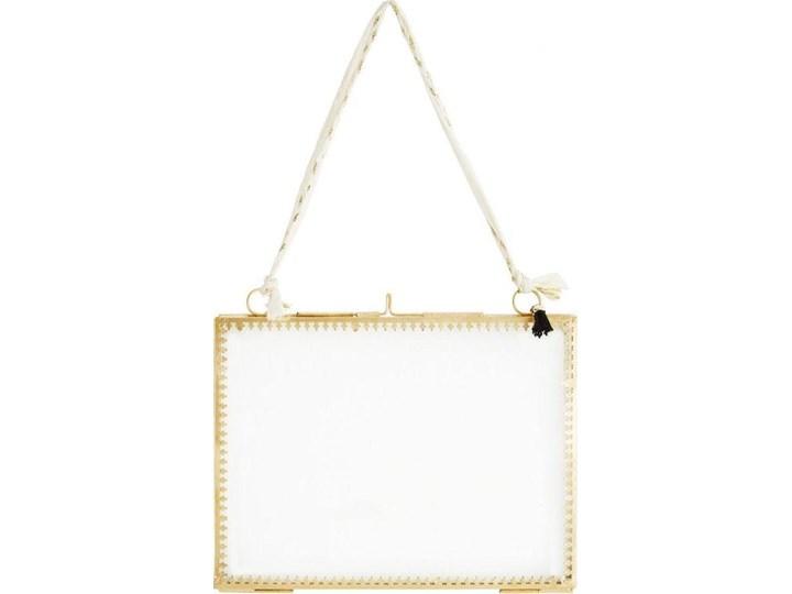 Ramka wisząca na zdjęcia 20x15 cm złota pozioma Kolor Złoty Stojak na zdjęcia Rozmiar zdjęcia 15x20 cm