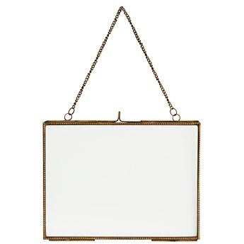 Ramka wisząca na zdjęcia Moe 20x15 cm mosiężna antyczna