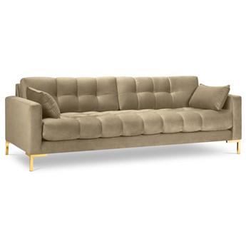 Sofa 4-os. Mamaia beżowa nogi złote