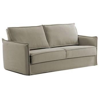 Sofa rozkładana Samsa 182x92 cm beżowa pianka termoelastyczna