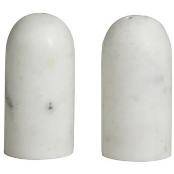 Solniczka i pieprzniczka Sumak Ø4x8 cm marmur