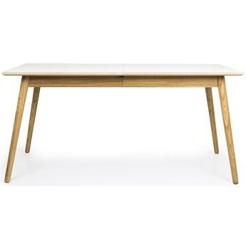 Stół rozkładany Dot 160x90 cm biały laminat