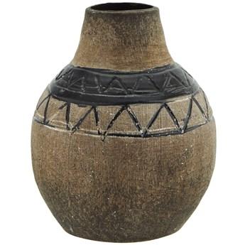 Wazon dekoracyjny Maznac Ø10x13 cm brązowo-czarny