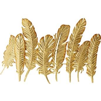 Wieszak ścienny Leaf 86x55 cm złoty