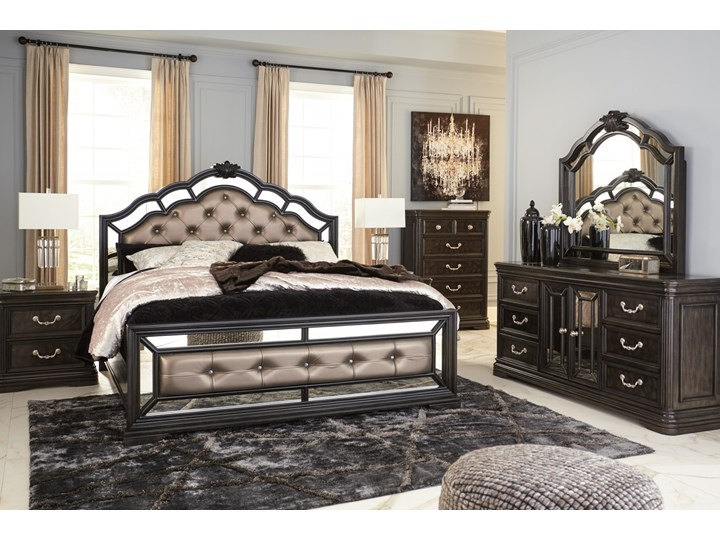Sypialnia amerykańska komplet - B728 Kategoria Zestawy mebli do sypialni Kolor Biały